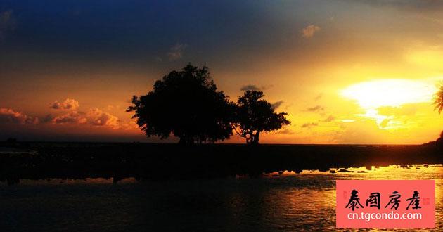 nai yang beach sunset 普吉岛奈杨海滩日落