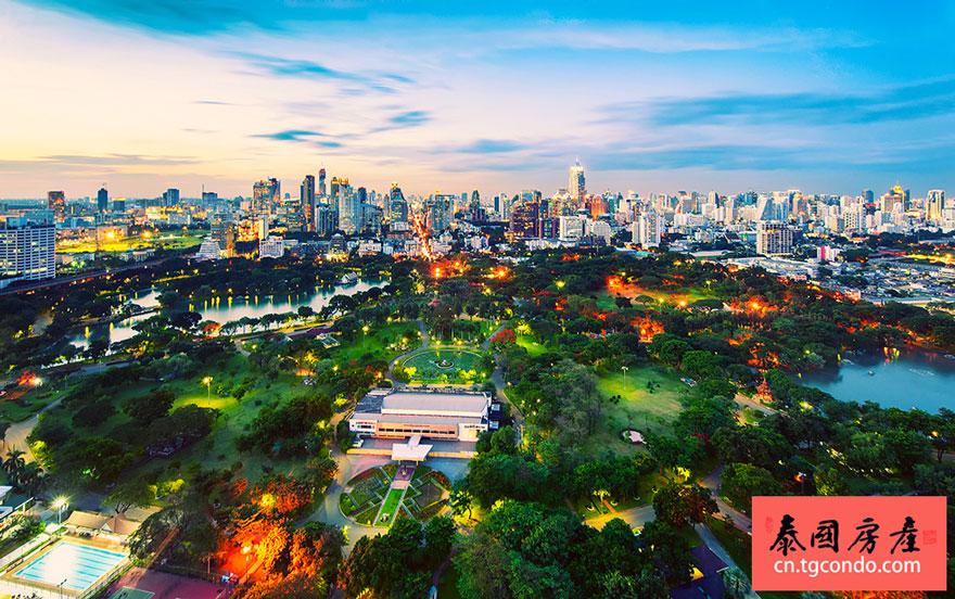 曼谷是隆沙吞区隆批尼公园 Silom Sathorn Lumpini Park