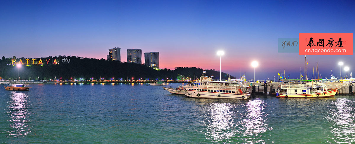 泰国芭提雅夜景