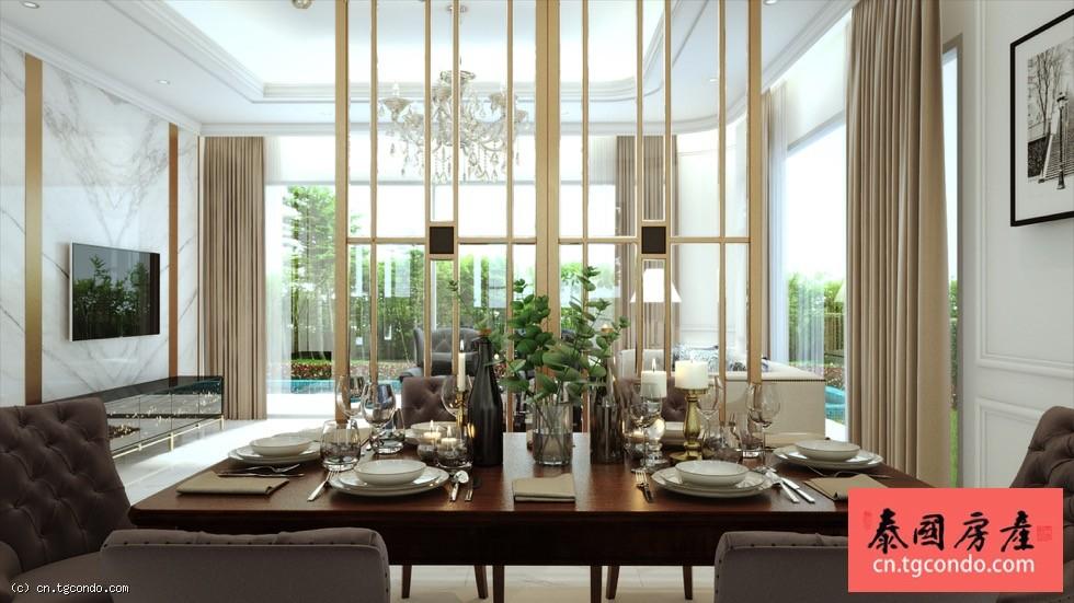 泰国曼谷高尔夫俱乐部 五房六卫豪华私人泳池别墅