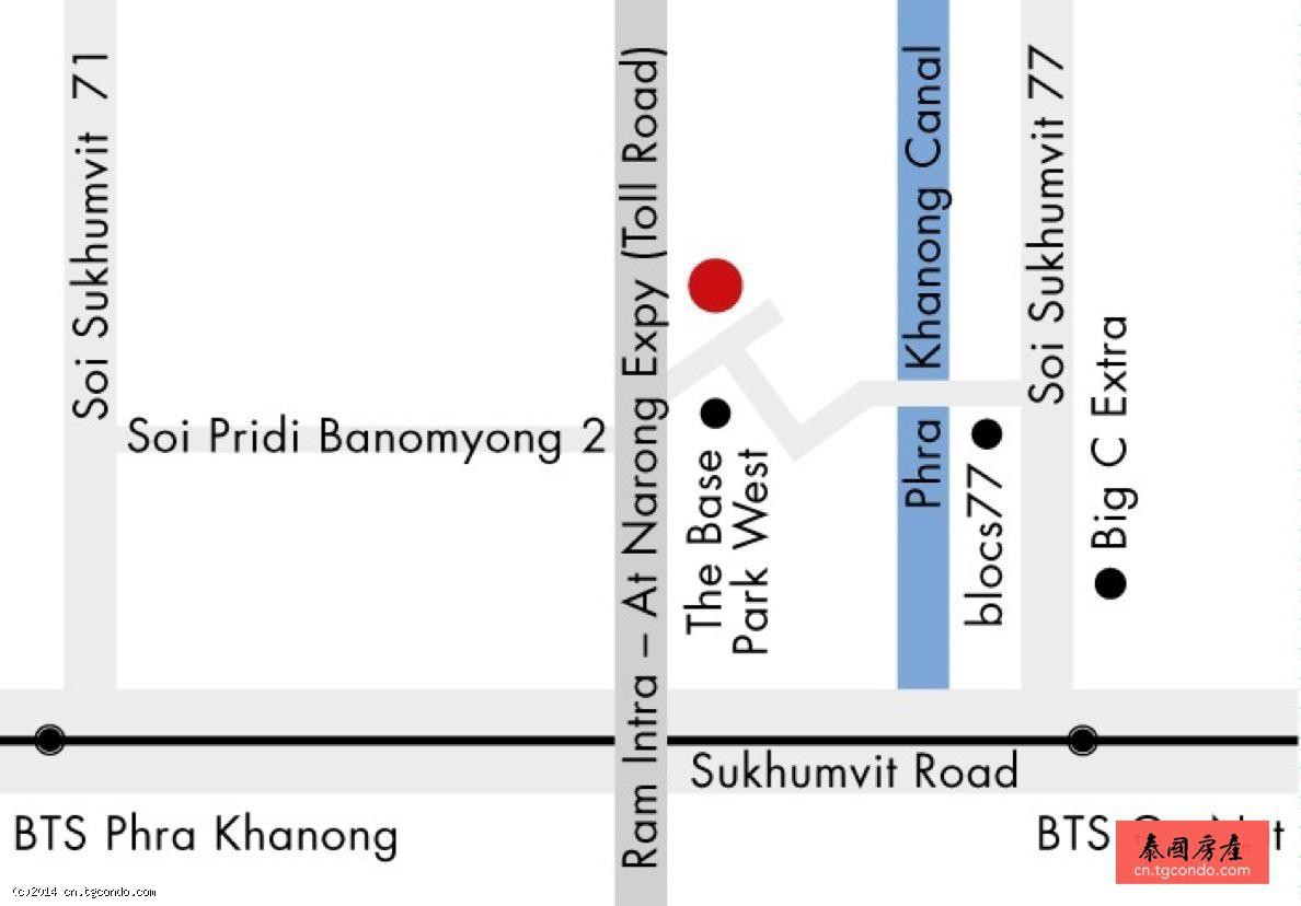 泰国曼谷BTS On Nut公寓 Base Park East