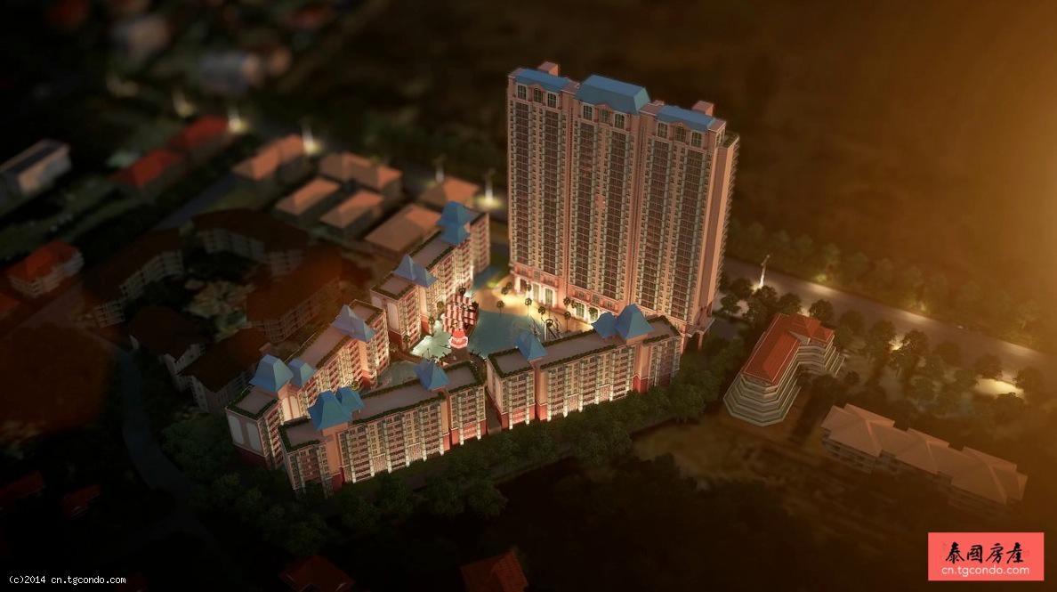 泰国芭提雅加勒比酒店公寓2房  Grande Caribbean