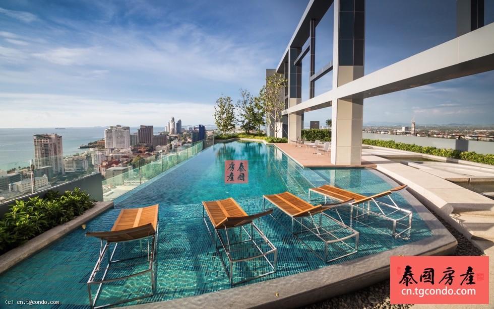 泰国芭提雅中心海公寓花园景观一房出售