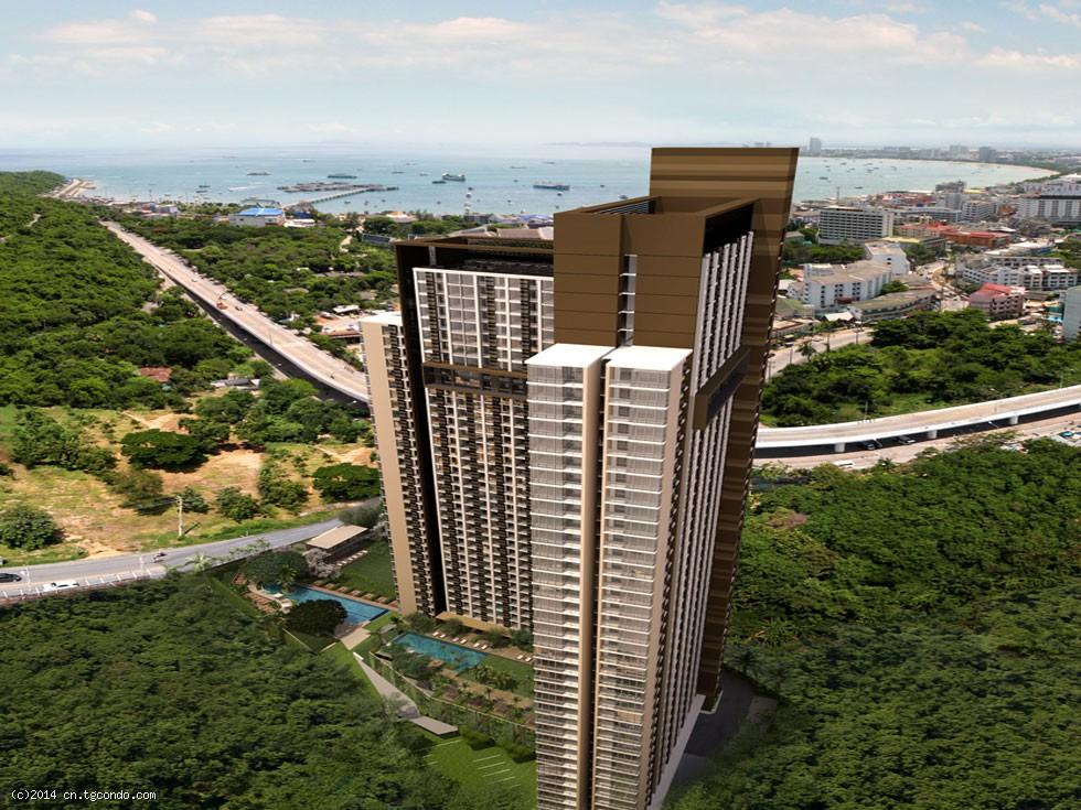 泰国芭堤雅高层35平1房全海景公寓 UNIXX Pattaya