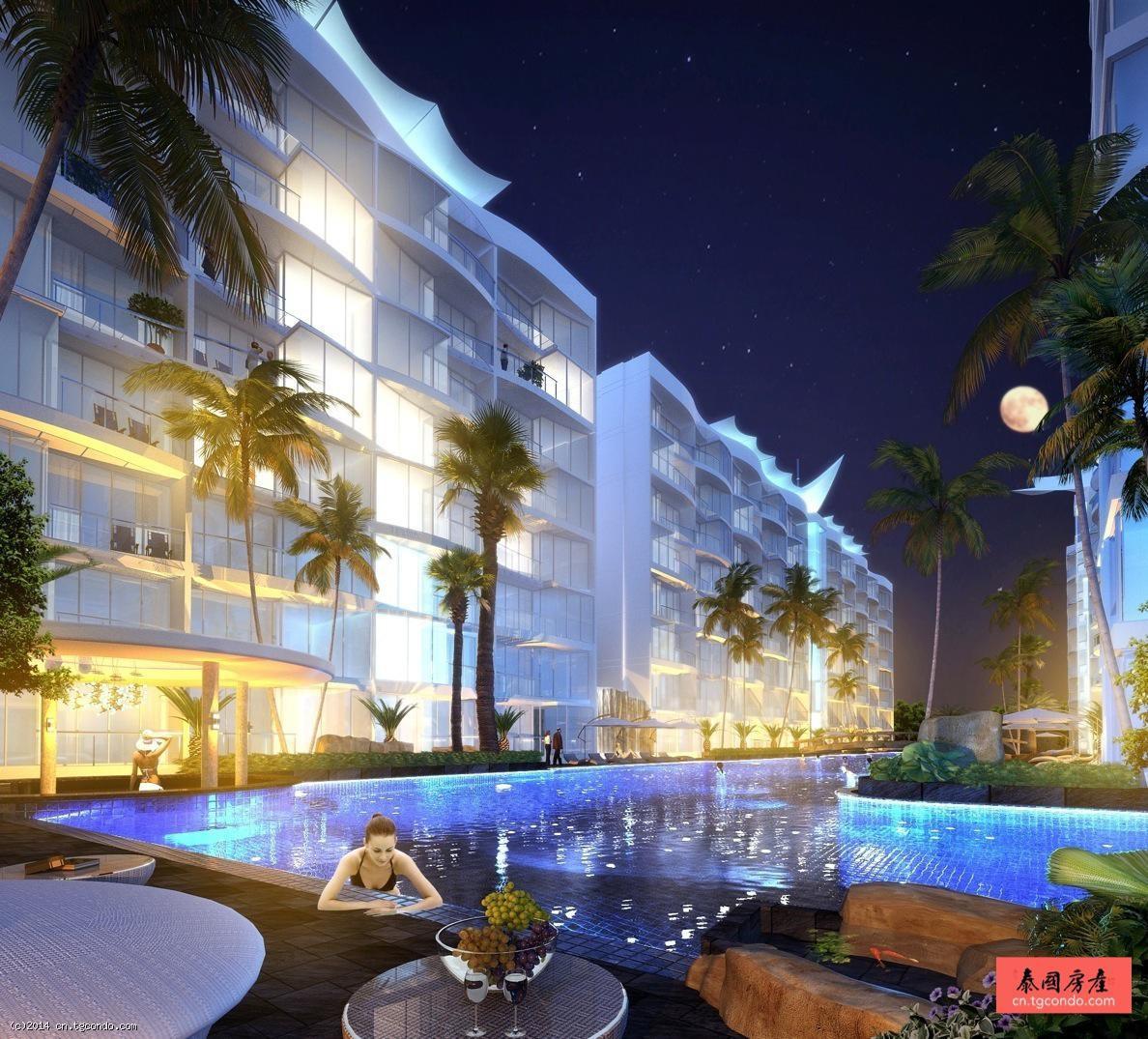 芭提雅酒店公寓郁金香60平2卧Golden Tulip Hotel Residence