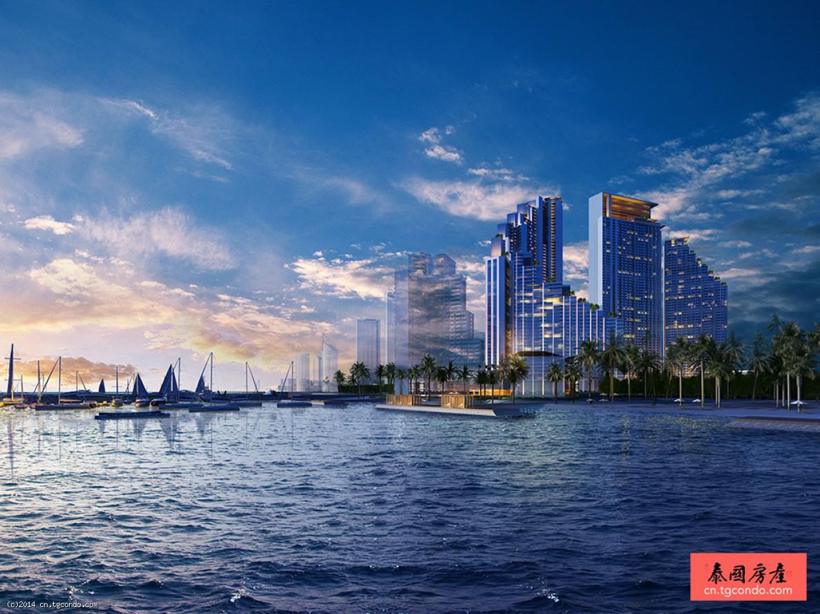 绿地泰国芭提雅滨海度假公寓42平1卧 pattaya coastal