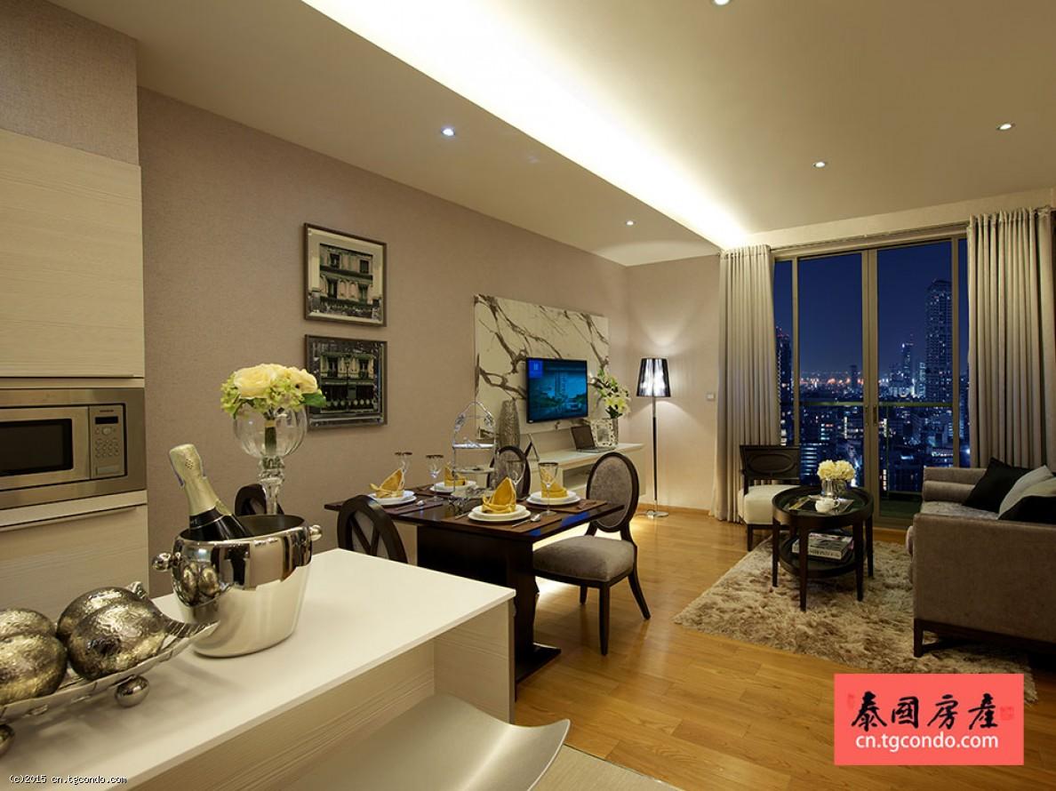 泰国曼谷豪华精装2房76平投资自住皆宜 H Condo