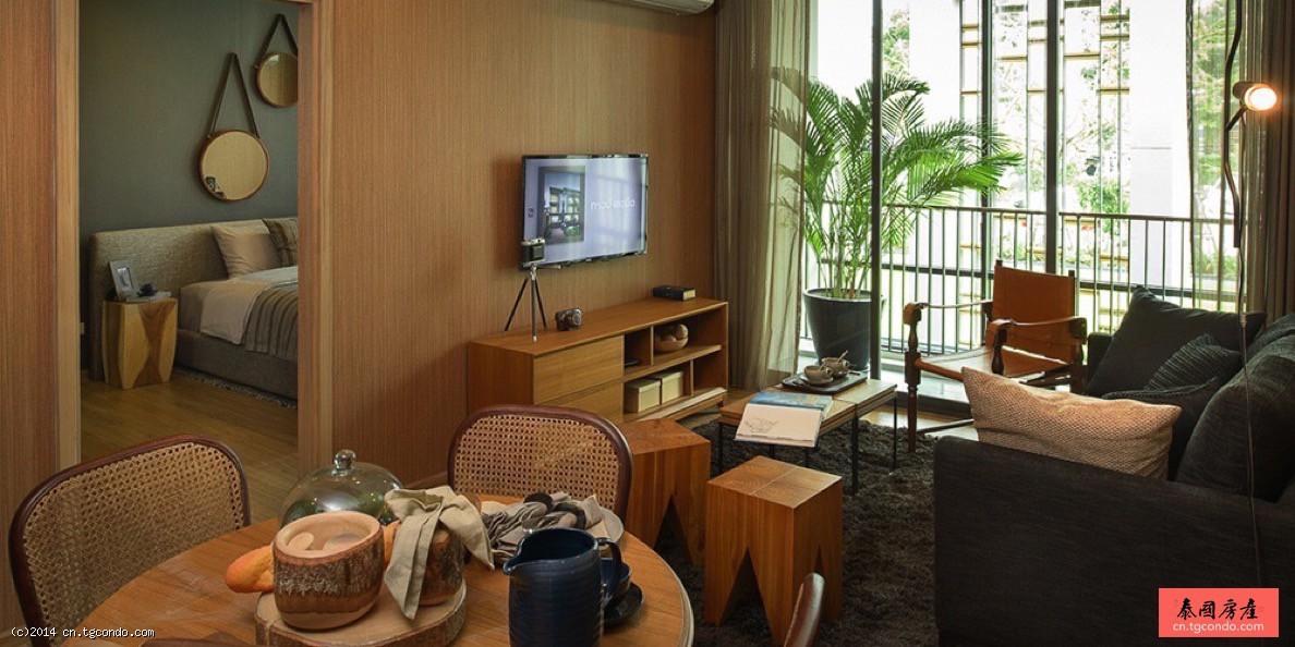 泰国曼谷轻轨On Nut站2房度假型房产 Hasu Haus