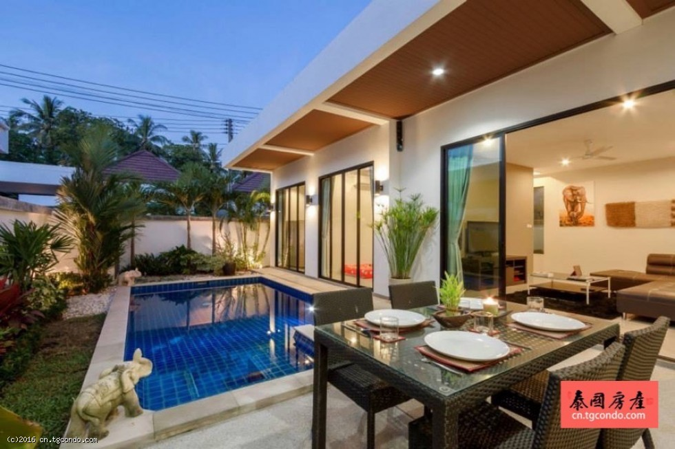 泰国普吉岛房地产:豪华泳池别墅出租