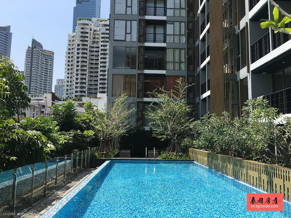 曼谷是隆金融区最新两室现房 Klass Silom