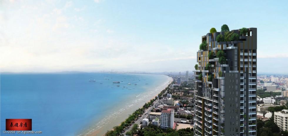 泰国芭提雅中天滨海Aeras高层海景35平米1房