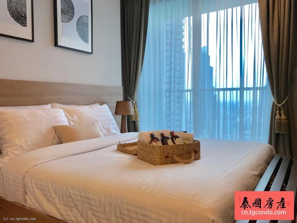 泰国曼谷沙吞45平一房湄南河景高层公寓出租