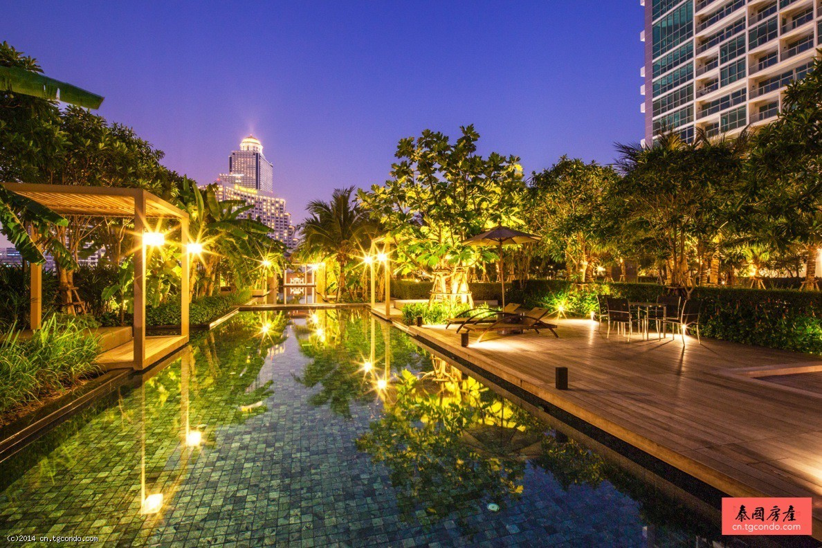 泰国曼谷湄南河景公寓 62平1房 The River