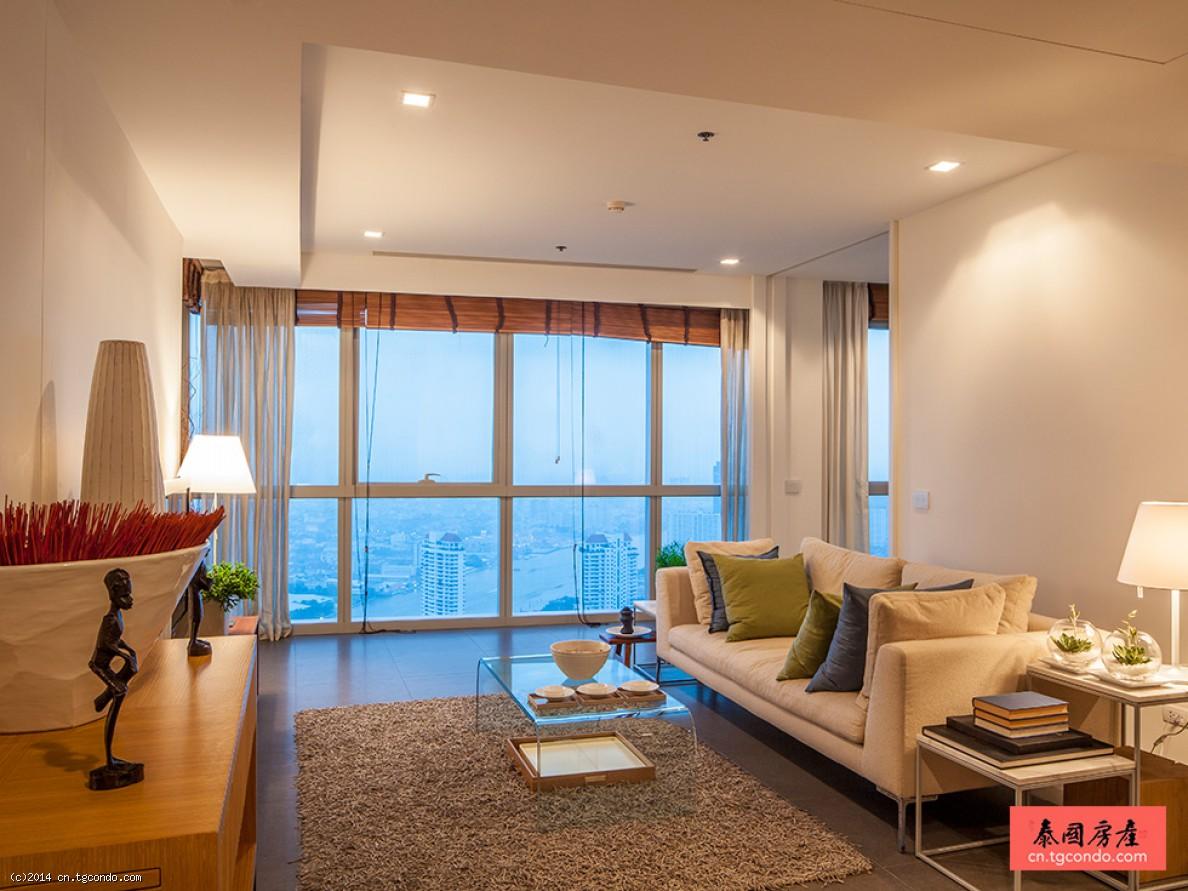 泰国曼谷湄南河景公寓The River 53平大开间