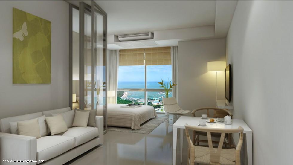 泰国芭提雅UNIXX高层海景62平米2房公寓
