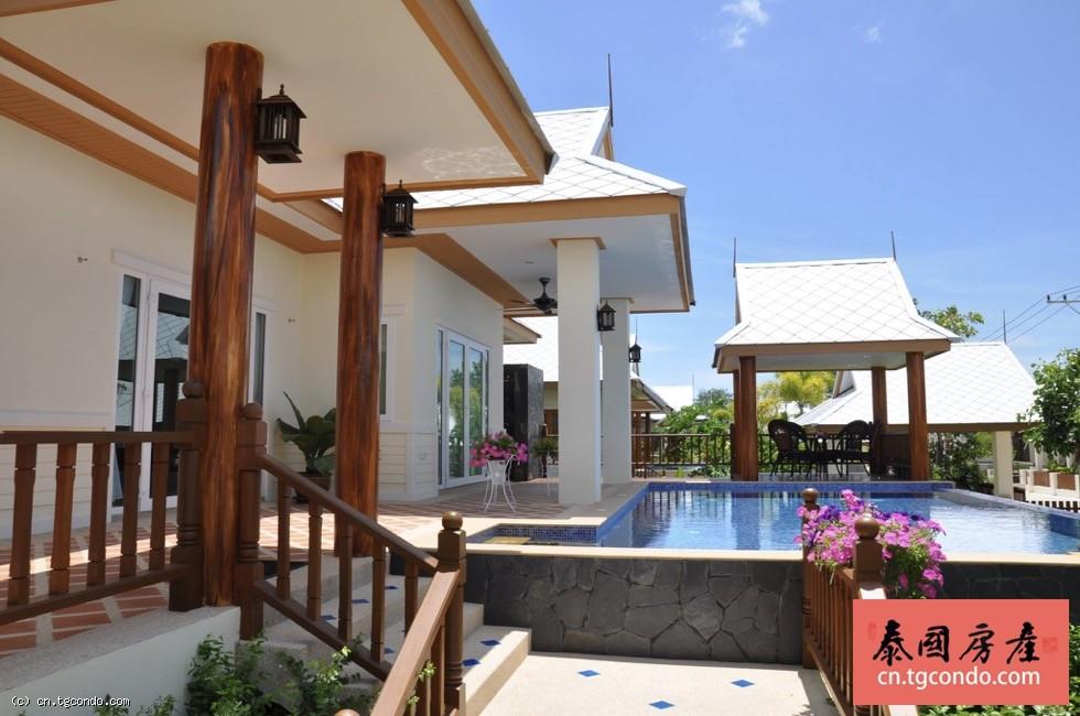 泰国芭提雅私家泳池别墅,三房三卫带车位