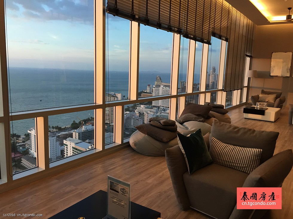 泰国芭提雅中心海两房公寓出租