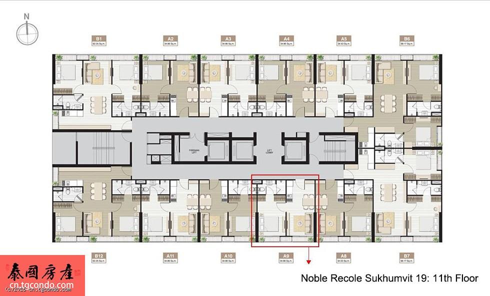 泰国曼谷2015年十大好房之一:Noble Recole