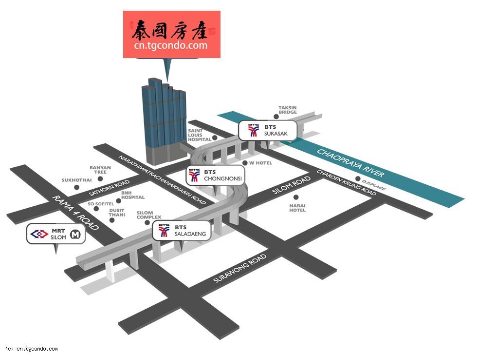 泰国曼谷沙吞区帝国大厦办公楼出租
