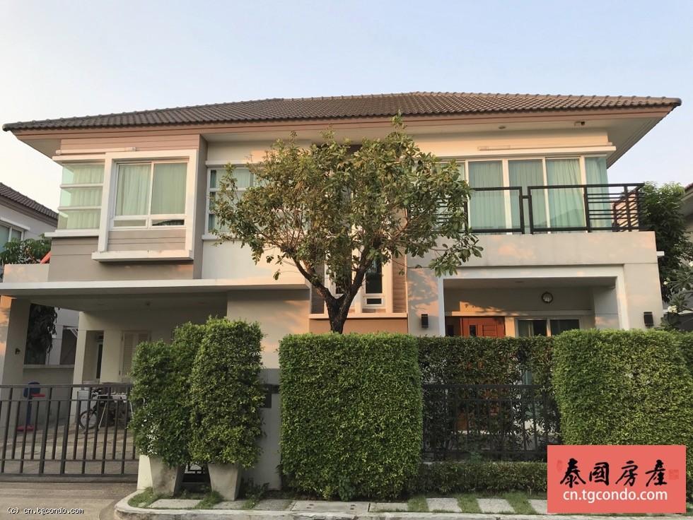 泰国曼谷别墅出租,高端社区4房4卫