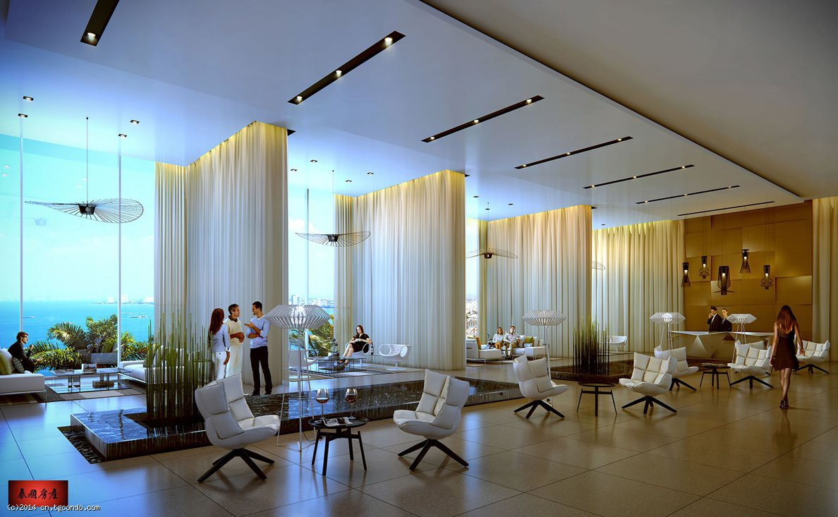 泰国芭堤雅公寓Waterfront44平米顶级海景