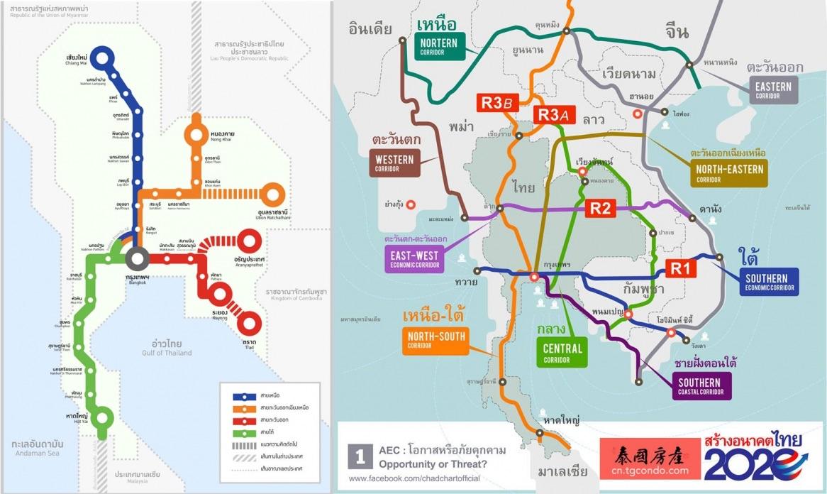 泰国高铁时速降低,改建8条双轨动车并接轨中国泛亚铁路
