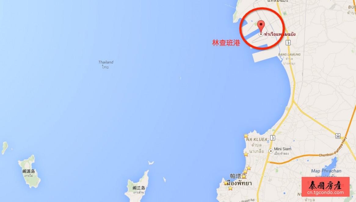泰国兰查邦港口,距芭堤雅15公里