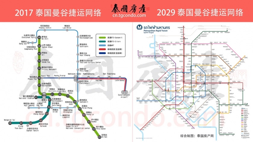 泰国曼谷城市捷运系统2017-2029对比