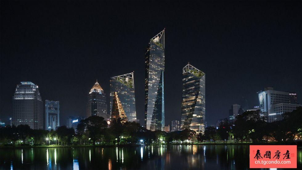 """泰国曼谷是隆""""都喜中央公园""""超大酒店公寓商业综合体开工"""