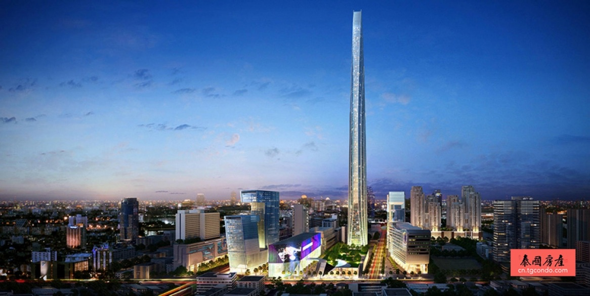 """泰国曼谷最高""""超级塔""""开建,东南亚最高,世界第三"""